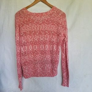 Roxy asymmetric perforated knit sweater, M, #A296